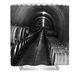 Napa Wine Barrels In Cellar Shower Curtain