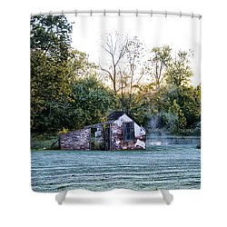 Narcissa Springhouse In Fall Shower Curtain by Bill Cannon