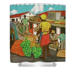 Nassau Fruit Boat Shower Curtain by Frank Hunter