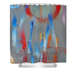 Native American Abstract Shower Curtain by Charles Stuart