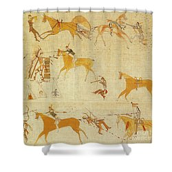 Native American Art Shower Curtain by Photo Researchers