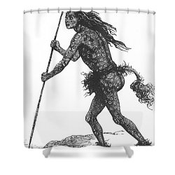 Native American Shaman Shower Curtain by Science Source