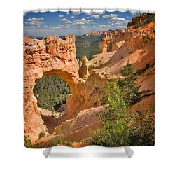 Natural Bridge In Bryce Canyon National Park Shower Curtain by Louise Heusinkveld