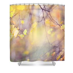 Natural Watercolor Of Autumn Shower Curtain by Jenny Rainbow