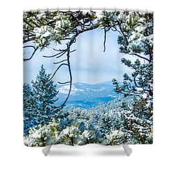 Shower Curtain featuring the photograph Natural Wreath by Shannon Harrington