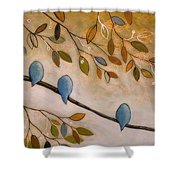 Nature Birds Painting...peaceful Garden Shower Curtain