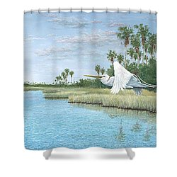 Nature Coast Shower Curtain by Kevin Brant