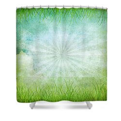 Nature Grunge Paper Shower Curtain by Setsiri Silapasuwanchai