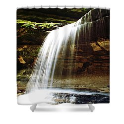 Shower Curtain featuring the photograph Nature In Motion by Milena Ilieva