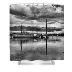 Navy Lookout Shower Curtain by Douglas Barnard