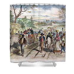 Nc: Freed Slaves, 1863 Shower Curtain by Granger