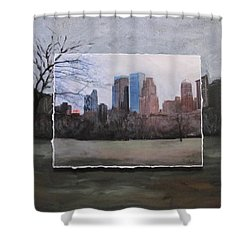 Ncy Central Park Layered Shower Curtain by Anita Burgermeister