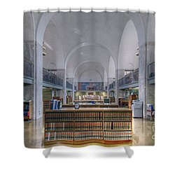 Shower Curtain featuring the photograph Nebraska State Capitol Library by Art Whitton