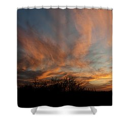 Nebraska Sunset Shower Curtain by Art Whitton