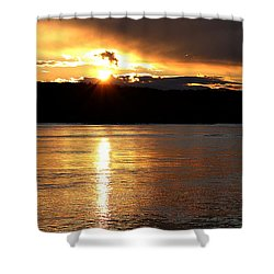 Shower Curtain featuring the photograph Nebraska Sunset by Elizabeth Winter