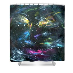 Nebula's Face Shower Curtain
