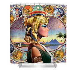 Nefertari Variant 3 Shower Curtain by Andrew Farley
