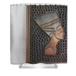 Shower Curtain featuring the photograph Nefertiti As Is by Tina M Wenger