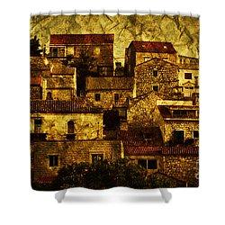 Neighbourhood Shower Curtain by Andrew Paranavitana