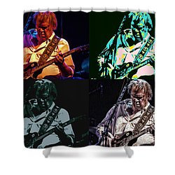 Neil Young Pop Shower Curtain by Tommy Anderson