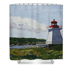 Neil's Harbor Light Shower Curtain