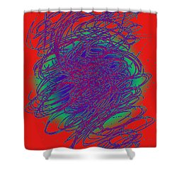 Neon Poster. Shower Curtain