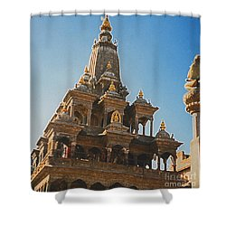 Nepal Temple 2 Shower Curtain by First Star Art