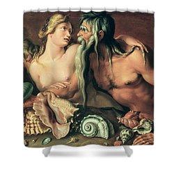 Neptune And Amphitrite Shower Curtain by Jacob II de Gheyn