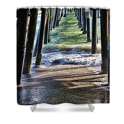 Neptune's Stairway Shower Curtain by Mariola Bitner