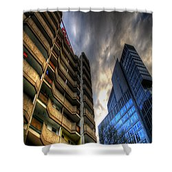 New And Old Living Shower Curtain by Nathan Wright