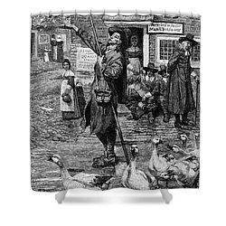 New England: Quaker, 1660 Shower Curtain by Granger