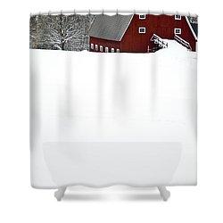 New England Winter Shower Curtain by Edward Fielding