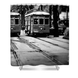 New Orleans Classic Streetcars. Shower Curtain by Perry Webster