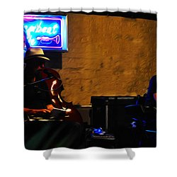 New Orleans Jazz Band Shower Curtain by Bill Cannon