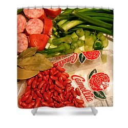 New Orleans' Red Beans And Rice Shower Curtain