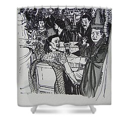 New Year's Eve 1950's Shower Curtain