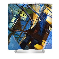 New York Apple Shower Curtain