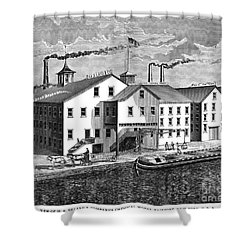 New York: Chemical Works Shower Curtain by Granger