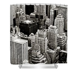 New York City From Above Shower Curtain by Vivienne Gucwa