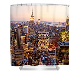 Shower Curtain featuring the photograph New York City by Luciano Mortula