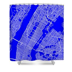 New York City Map Streets Art Print   Shower Curtain