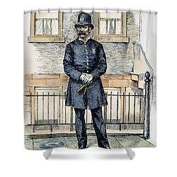 New York City Policeman Shower Curtain by Granger