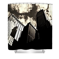 New York City Skyscrapers Shower Curtain by Vivienne Gucwa
