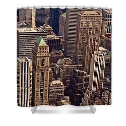 New York City Urban Landscape Shower Curtain by Vivienne Gucwa