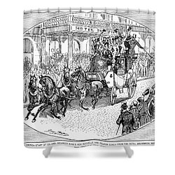 New York: Coaching, 1876 Shower Curtain by Granger