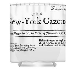 New York Gazette, 1733 Shower Curtain by Granger