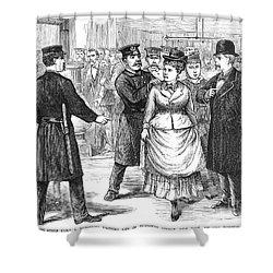 New York Police Raid, 1875 Shower Curtain by Granger