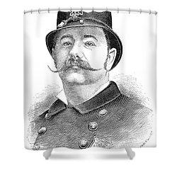 New York Policeman, 1885 Shower Curtain by Granger
