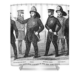New York Policemen, 1854 Shower Curtain by Granger