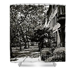 Shower Curtain featuring the photograph New York Sidewalk by Eric Tressler